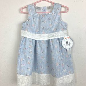 KOALAKIDS Blue & White Pin Stripe Dress 2T